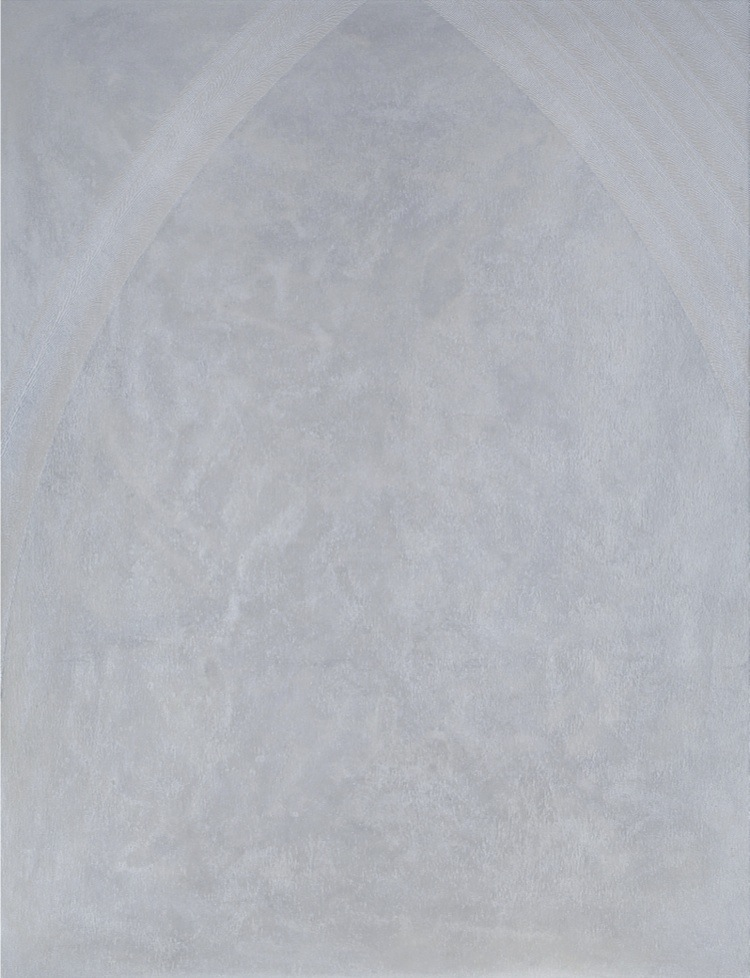 Marcello De Angelis, Interno veneziano, 2016, acrilico injection painting su tela, 110x85 cm