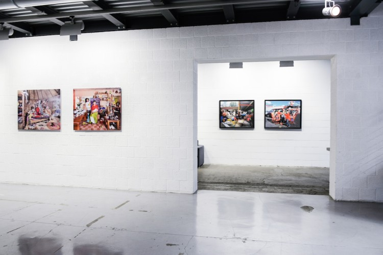 veduta della mostra Aurore Valade, Mexican Interiors,courtesy Gagliardi e Domke, Torino