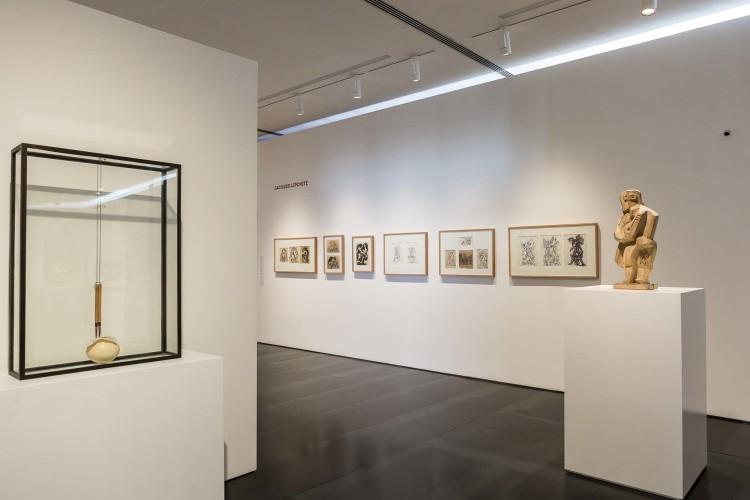 Veduta della mostra, Il disegno dello scultore, Museo Novecento