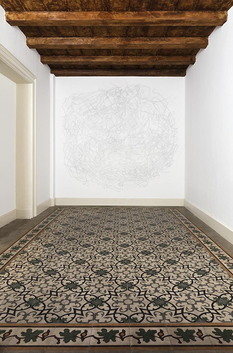 Giovanni De Lazzari, Sottotraccia, 2019, matita su muro Credits Andrea Rossetti