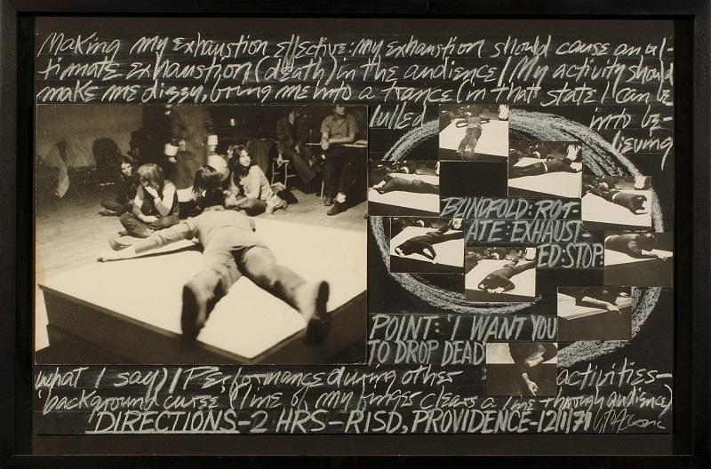 Vito Acconci, Directions, 1969.Crediti fotografici: Studio Gonella, 2005