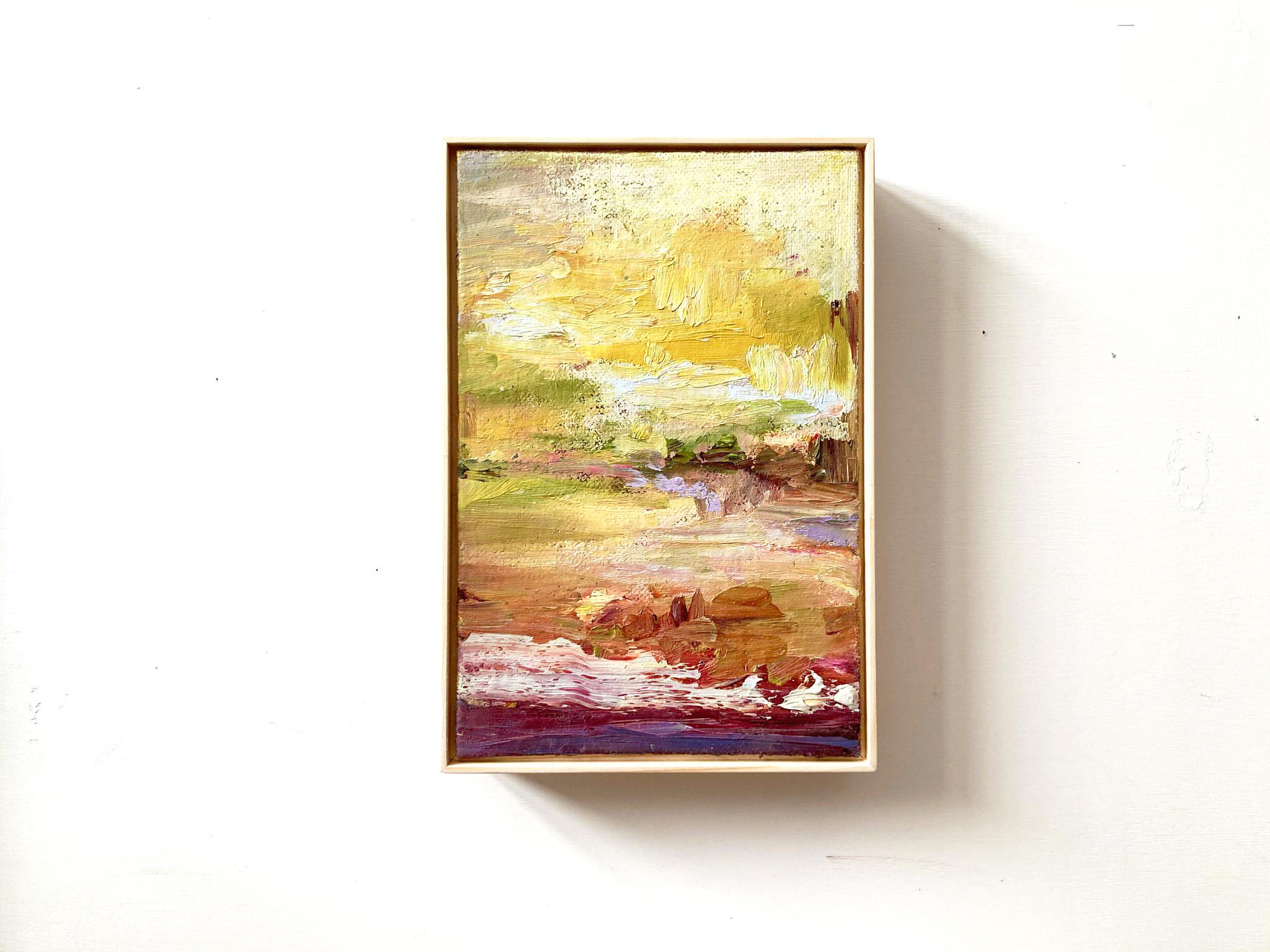 Isabella Nazzarri, Nostalgia, 2021, olio su cartone telato con cornice in legno naturale, 20x30 cm