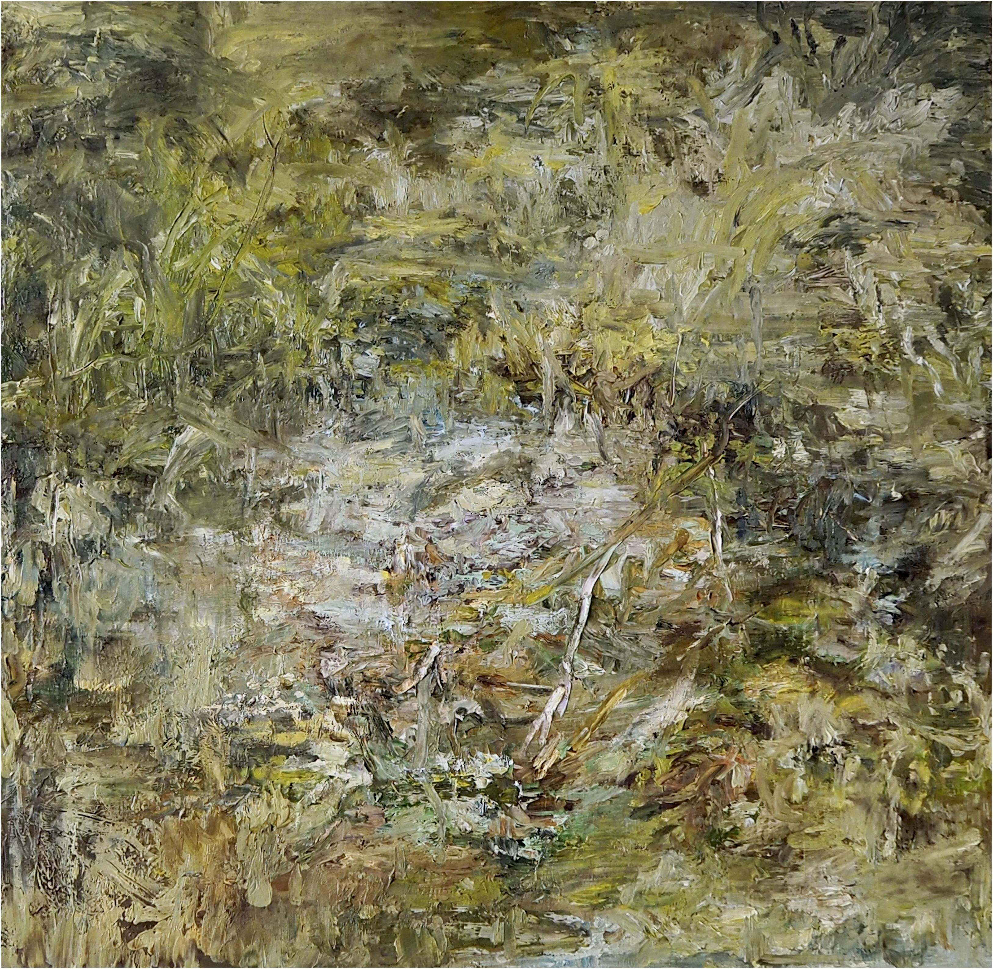 Isabella Nazzarri, Tempo percorso, 2020, olio su tela, 80x80 cm