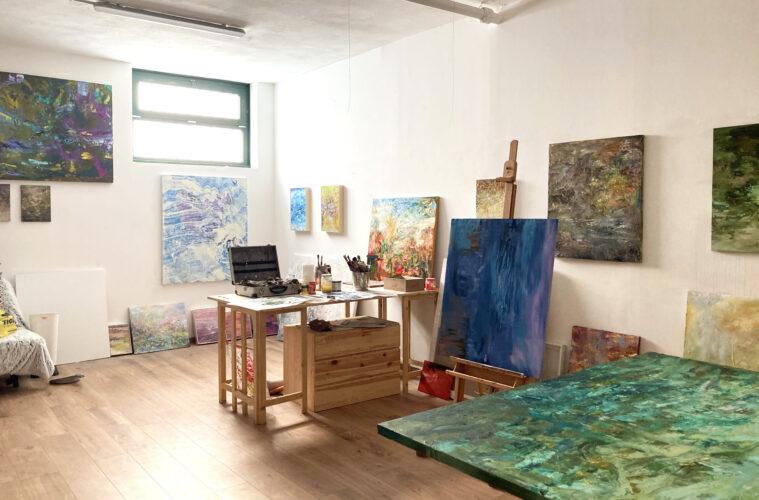 Veduta dello studio di Isabella Nazzarri