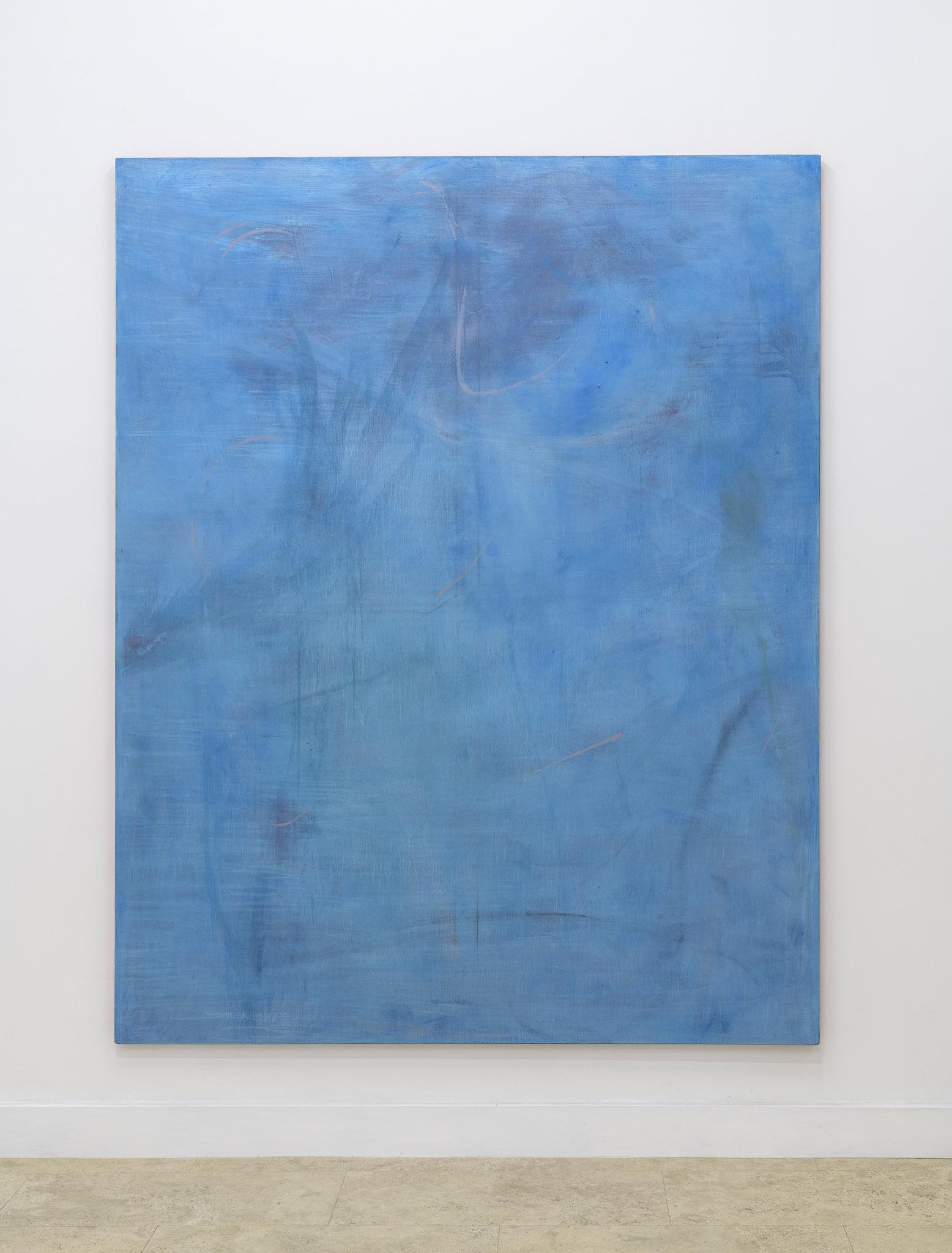 Richter Fine Art, Luca Grechi, Un blu sopra le cose, mixed media on canvas, 190x150cm, 2019