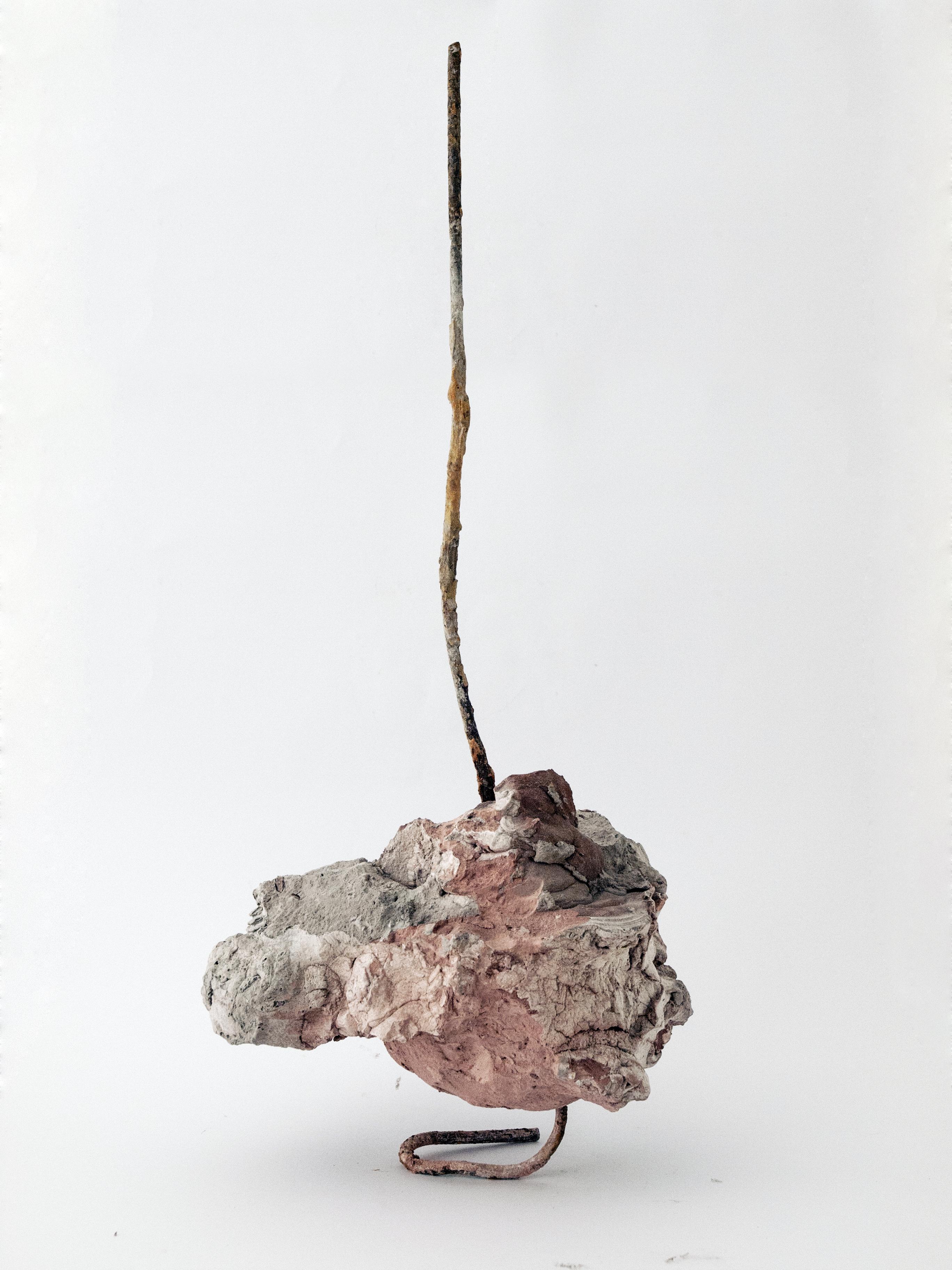 Ilaria Cuccagna, Sculpture's heart, Gesso, acqua di mare, ossido di ferro, 35 x 20 x 75 cm, 2021