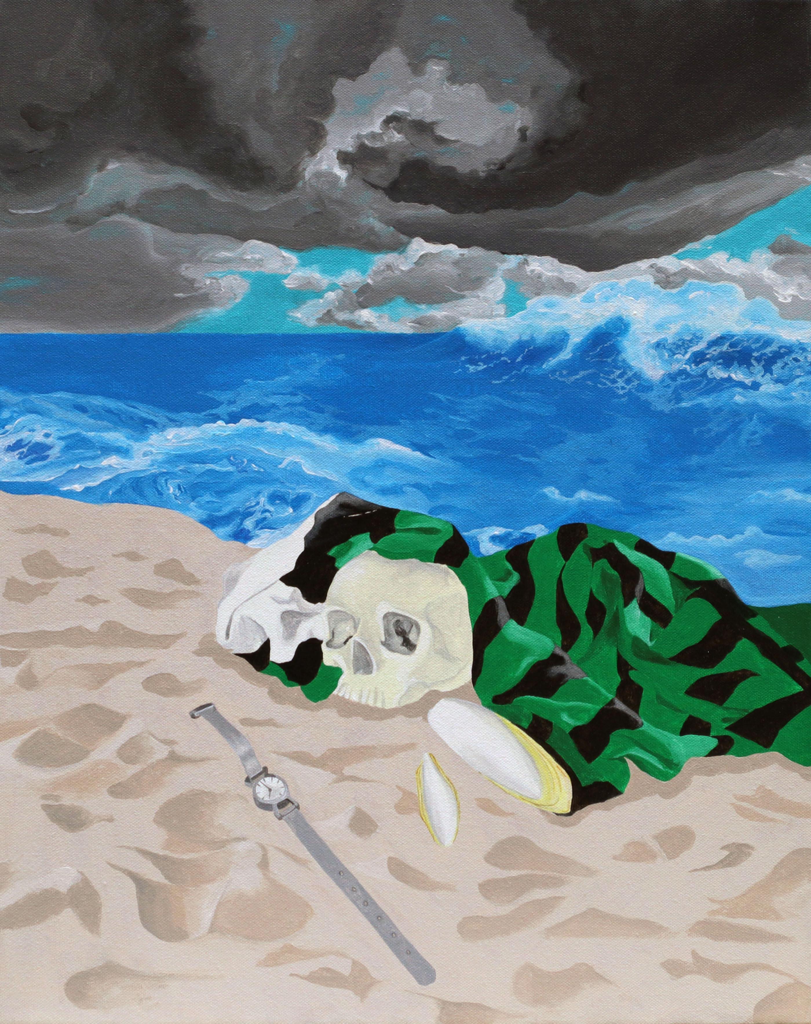 Irene Balia, Eco, 2021, acrilico su tela, 40x50cm