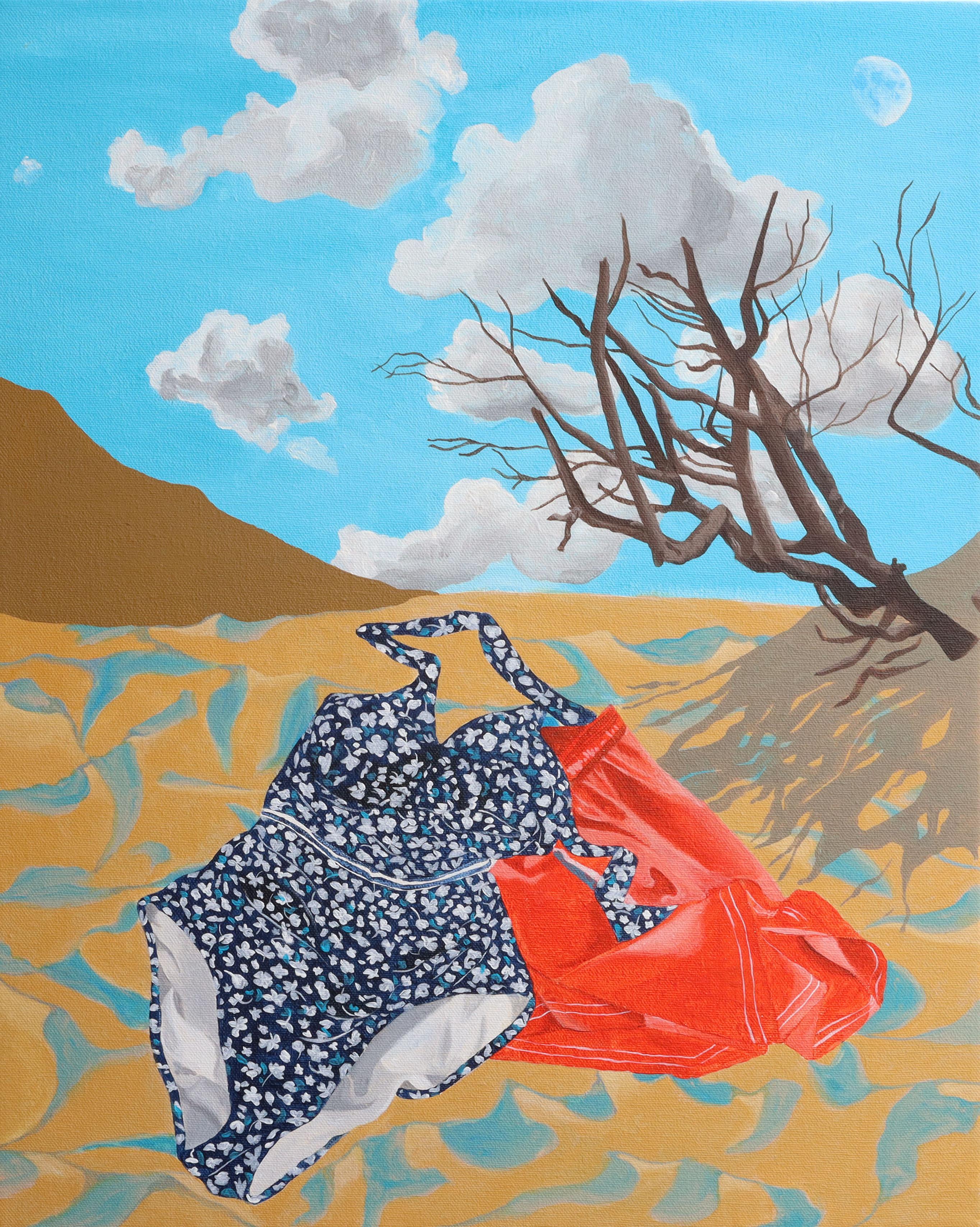 Irene Balia, Quando il sole ci nutriva, 2021, acrilico su tela, 40x50cm